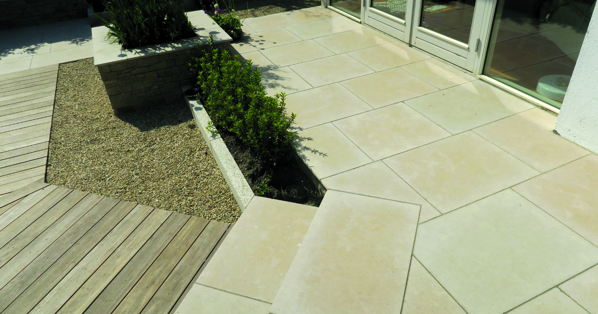 How To Lay Egyptian Limestone Paving
