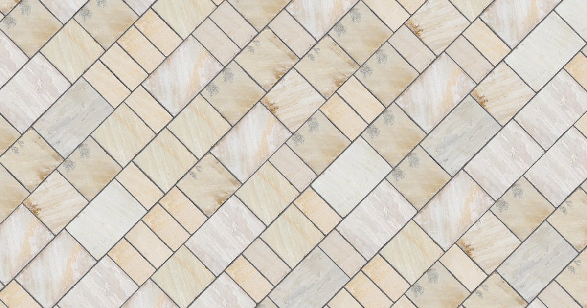 sandstone mint paving